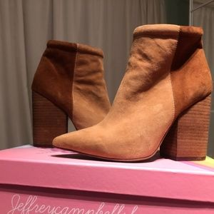 Jeffrey Campbell two tone Suede boots